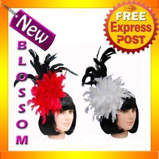 AS30 Burlesque Moulin Rouge Vegas Cabaret Mardi Gras Feather Costume Headband