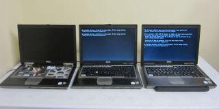 Lot of 3 Dell Latitude D620 Core Duo T2300E T5500 1 66GHz 1GB Laptop