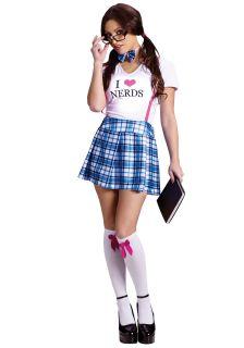 Adult Sexy Nerd School Girl Costume