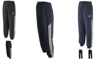 Adidas Mens 3 Stripe Stinger Tracksuit Pants Bottoms Black Navy Size XL