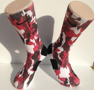 Custom Red Camo Nike Elite Socks