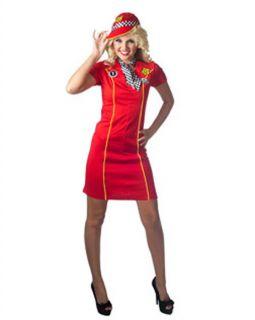 Racing Sexy Adult Costume Dress Cap NASCAR Race Car Driver Woman Racer