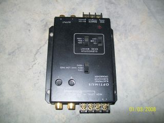 Optimus Electronic Subwoofer Crossover 12 2012