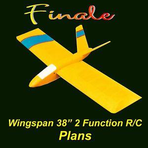 Freeflight Model Airplane Plan Slope soarer Glider