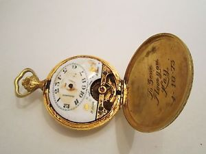 Arnex Time Co Fifteen 15 Jewels Bruxelles 1910 Vintage Pocket Watch Parts Only