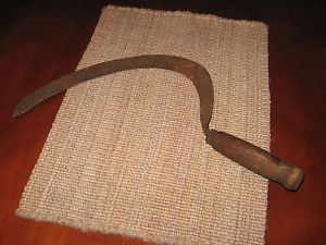 Vintage Antique Primitive Hand Scythe Sickle Cutting Tool Farm Reaper