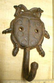2 Lady Bug Coat Hat Hooks 5 1 2x3 3 8 Cast Iron Ladybug Wall Hook Garden Decor