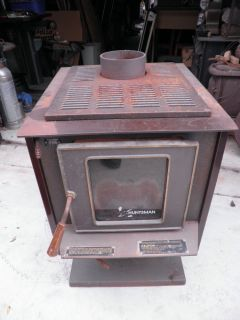 "Fireplace Huntsman Wood Stove Airtight Heater 24"" Logs 6 1 2"" Flue USA Shiner"