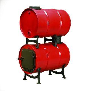 New Heavy Duty Double Barrel Tank Stove Adapter Cast Iron for Wood Stove Kit