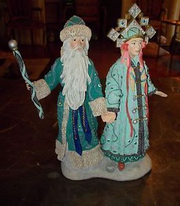 "Duncan Royale Santa Collection ""Grandfather Frost and Snowmaiden"""