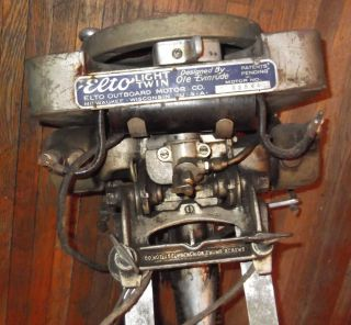 Vintage Elto Light Twin Ole Evinrude Outboard Boat Motor