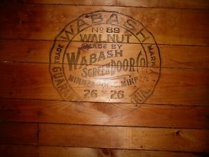Beautiful Very Old Vintage Wabash Screen Door Co Wood Coal Burning Stove Bottom