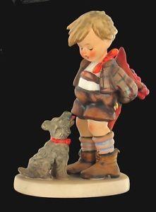 Vintage Goebel Hummel not for You Little Boy Flowers Dog Figurine 317 TMK 5