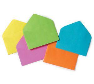 "60 Multi Color Assorted Florist Enclosure Card Envelopes Small 2 1 2"" x 4 1 4"""