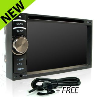 "6 2"" Car GPS Navigation CD DVD Player Head Unit Double 2Din in Dash Radio Stereo"