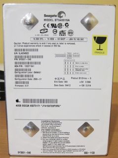 Seagate ST340015A 4 x 40 GB Lot Harddrive PATA Ultra ATA 100