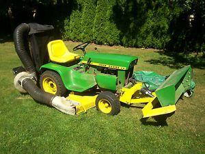 "John Deere 110H Garden Tractor 47"" Deck with Peco Lawn Vac and Scoop Loader"