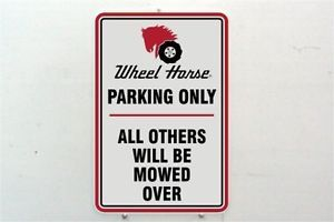 Vintage Wheel Horse Lawn and Garden Toro Farm Tractor Logo Metal Parking Sign