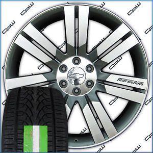 "24"" inch Wheels Rims Tires Package for Chevrolet Tahoe Suburban Silverado New"