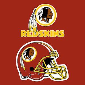 "Washington Redskins NFL Large Vinyl Wall Football Logo Sticker Decal 24"" x 24"""