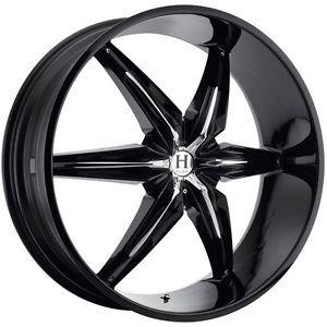 26 inch Helo HE866 Black Wheels Rims 5x135 Ford F150