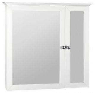 "Bathroom Medicine 31""Cabinet White Storage Dual Mirror"