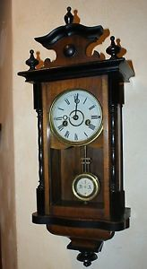 Antique Junghans Mini Regulator Wall Clock Junghans Signed Movement 1890