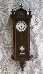 Miniature Lenzkirch Vienna Regulator Wall Clock Very Early and RARE Working