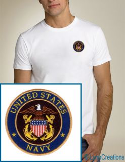 United States Navy Seal Embroidered T Shirt New