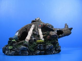 "Combat Helicopter Cave 11"" Aquarium Ornament Decor Aircraft Air Force Wreckage"