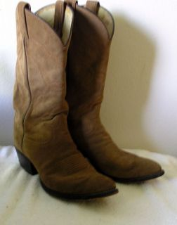 Tony Lama 6987 Suede Leather Mens Western Cowboy Boots 8 1 2D