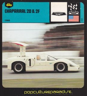 1966 Chaparral 2D 2F Racing Car Picture Auto Card