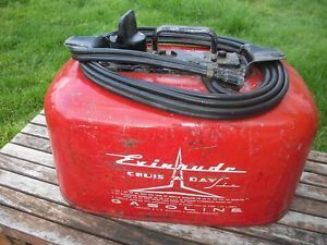 Johnson Evinrude OMC Pressurized Outboard Boat 2 Line Fuel Gas Tank Out Board