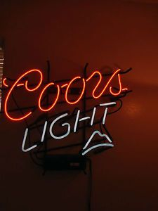 Coors light neon beer sign coors light neon beer sign display bar pub man cave decor mozeypictures Choice Image