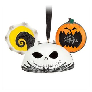Disney Nightmare Before Christmas Jack Skellington Zero Ear Hat Tree Ornament