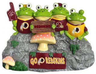 Washington Redskins NFL Football Frog Fan Bench Garden Figurine