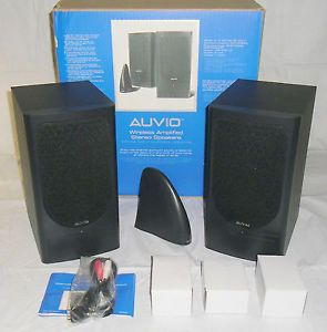 New AUVIO 40 268 Wireless Amplified Stereo Speakers 3 Channels 300 Foot Range