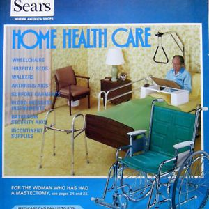 Vtg 1977  Catalog Home Health Care Furniture Medicine Beds Walkers Brochure