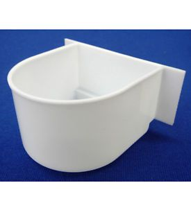 Lot of 4 Bird Cage Seed Water Feeder Cup 4XC8054 White Plastic Cup