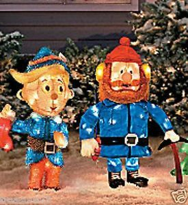 Rudolph's Hermey Yukon Cornelius Lighted Outdoor Christmas Yard Decor New