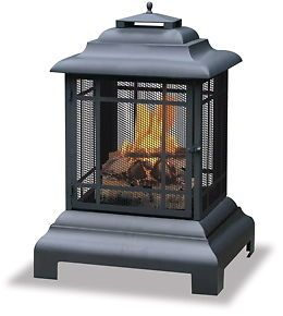 Uniflame Outdoor Patio Wood Burn Fire Pit Fireplace New