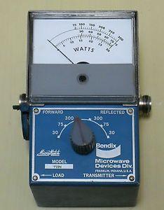Bendix 711N VHF UHF 25 1000 MHz 300W RF Directional Wattmeter Case