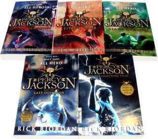 Percy Jackson 5 Books Collection Set Lightning Thief