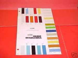 1973 1982 Chevrolet Luv Truck Paint Chips Color Chart