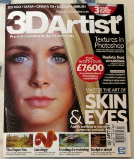 3D Artist DVD Master Art of Skin Eyes 37 Shading Rendering Textures Maya