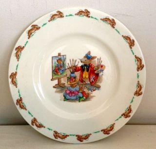 Vintage Royal Doulton Bunnykins Plate The Artist Paint 20 3cm