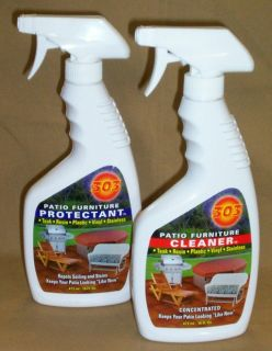 303 Patio Furniture Care Kit 16 oz Patio Furniture Cleaner 16 oz Protectant