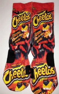 Custom Flamin Hot Cheetos Nike Elite Socks