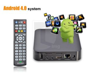 Android 4 0 Internet TV Box PC Streaming Multimedia Box Media Player 1080p