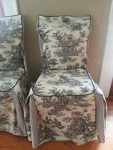 Waverly Garden Room Dining Chair Covers four waverly garden room vintage rose chair covers slipcovers seat